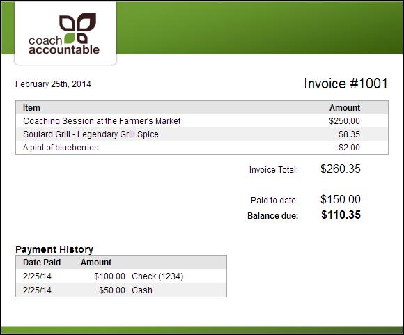 An invoice