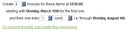 Invoice Sequence
