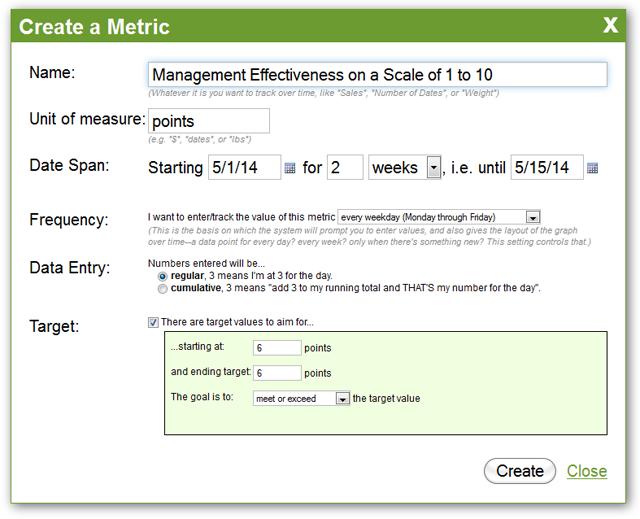 Metric Creation - Rating