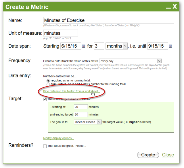 Pipe data into this Metric?  Ooooh, say more about that.