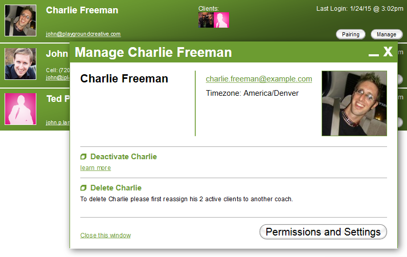 The Coaches tab is, of course, located only on the Team Dashboard.