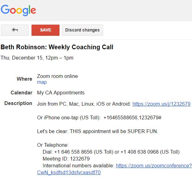 No affiliation with Google, etc. etc.