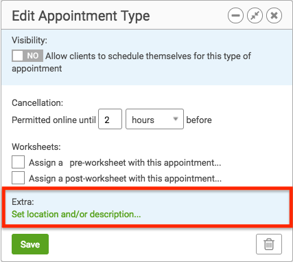 Edit Appointment Type