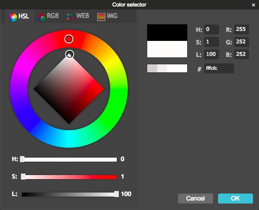 Pixlr Color Selector