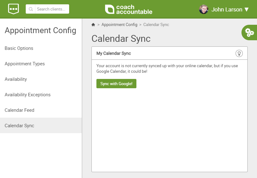 Sync your online coaching platform with your calendar
