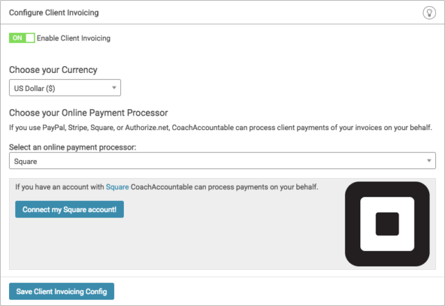 Online coaching platform now accepts Square payments