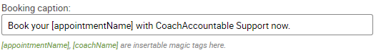 Booking caption for a Multi-coach Offering Appointment